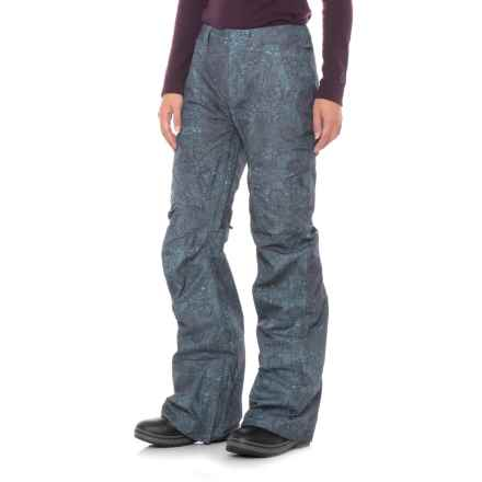 Burton Indigo Floral [ak] Summit Gore-Tex® Snowboard Pants - Waterproof (For Women) in Indigo Floral - Closeouts